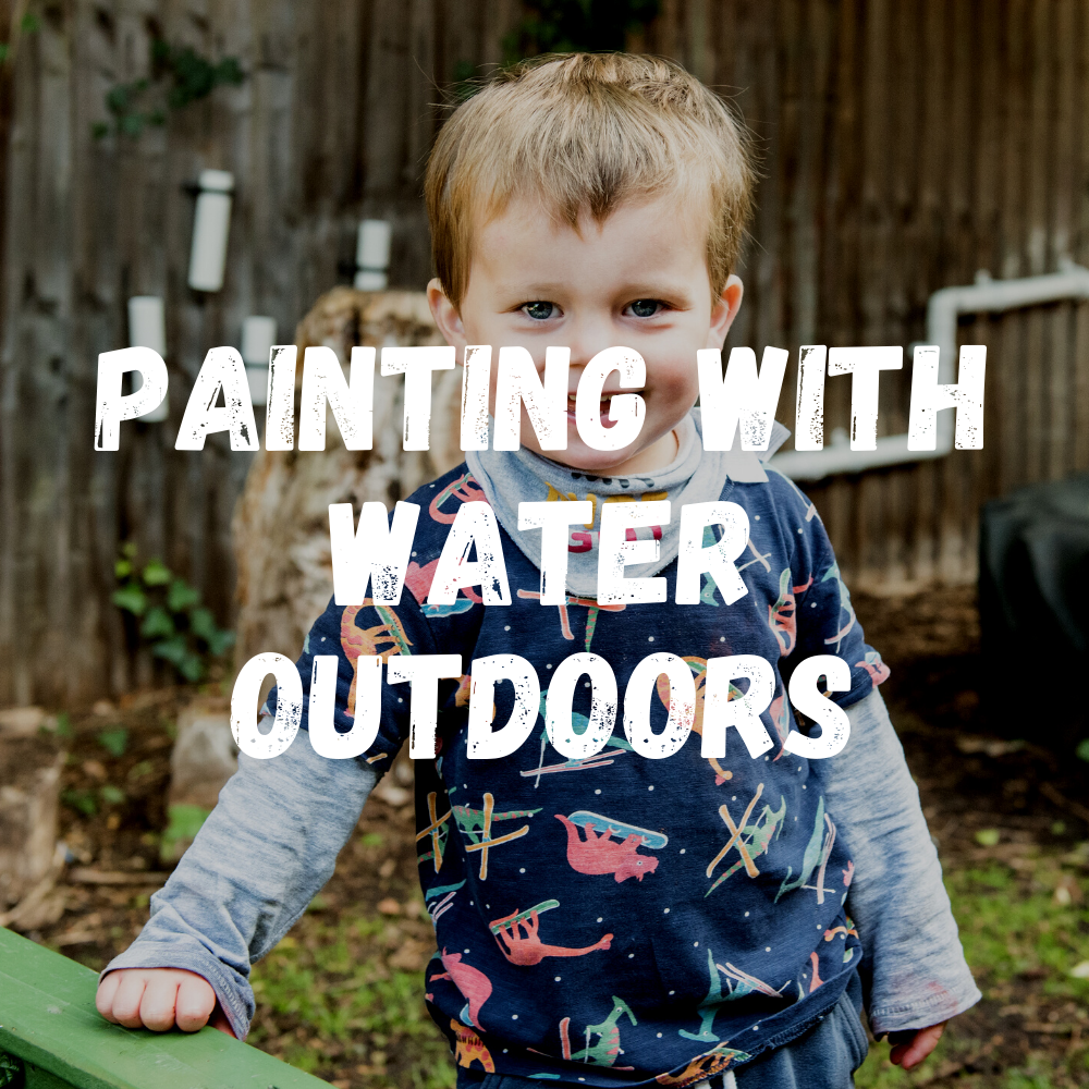 Painting With Water Outdoors Toddlers